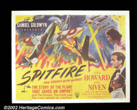 "Spitfire (RKO 1942) Half Sheet (22""X 28""). Leslie Howard's final screen appearance was in this pro-British Wor..."