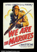 "Movie Posters:War, We Are the Marines (20th Century Fox 1942) One Sheet (27"" X 41"") One of the very best of the World War II era filmposters i..."