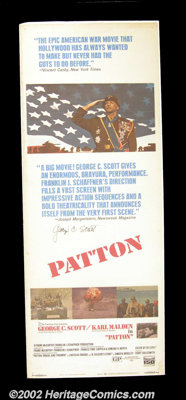 "Patton (20th Century Fox 1970) Insert (14"" X 36""). George C. Scott's riveting performance of the World War II..."