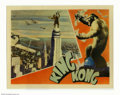 """Movie Posters:Horror, King Kong (RKO, 1933). Lobby Card (11""""X14"""") This amazing lobby card depicts one of the most memorable moments in the histor..."""
