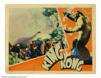 """King Kong (RKO 1933) Lobby Card (11""""X14"""") Willis O'Brien, master of stop-motion animation, brought the dinosau..."""