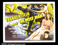 """Frankenstein Meets the Wolfman (Universal, 1943). Half Sheet (22"""" X 28""""). Universal had almost exhausted plots..."""