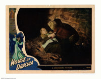 """House of Dracula (Universal, 1945.) Lobby Card (11"""" X 14""""). This is a particularly desirable card as it featur..."""