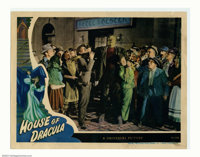 """House of Dracula (Universal, 1945). Lobby Card (11"""" X14""""). The only card from the set to feature Glenn Strange..."""