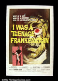 "Movie Posters:Horror, I Was a Teenage Frankenstein (AIP, 1957). One Sheet (27"" X 41""). One of producer Herman Cohen's classic drive-in chillers t..."