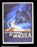 Movie Posters:Horror, Horror of Dracula (Hammer- Warner Brothers, 1958) French Petite. This brilliant retelling of Bram Stoker's classic horror n...