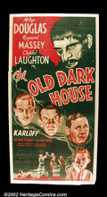 "Movie Posters:Horror, The Old Dark House (Universal R-1939)Three Sheet (41"" X 81"") Rare three sheet from the 1939 re-issue of this seminal Univers..."