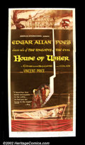 """Movie Posters:Horror, House of Usher (AIP 1960) Three Sheet (41""""X81"""") Roger Corman and Vincent Price began their series of films based on Edgar A..."""