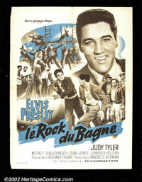 Jailhouse Rock (MGM 1957) French Petite. The King of Rock N' Roll shines on this spectacular French poster. Besides a gr...