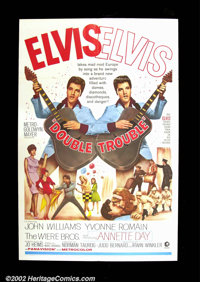 "Double Trouble (MGM 1967) One Sheet (27""X41""). Elvis Presley stars in this rock n roll musical. Very Good+..."