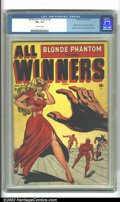 Golden Age (1938-1955):Superhero, All-Winners Comics V2 #1 (Timely, 1948). The Blonde Phantom was revived for one last outing with Timely superstars Captain A...