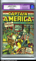 Golden Age (1938-1955):Superhero, Captain America Comics #1 (Timely, 1941). Timely's most popular key issue, Captain America #1 has a lot going for it: th...
