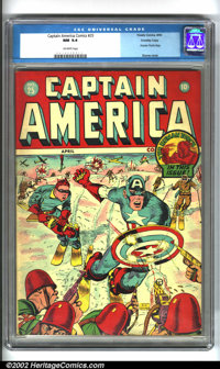 Captain America Comics #25 Crowley pedigree (Timely, 1943). A simply stunning example from the ever-popular Cap run! Thi...