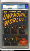 Golden Age (1938-1955):Horror, Journey into Unknown Worlds #11 File copy (Atlas, 1952). Featuringa classic Bill Everett cover, as well as interior art, th...