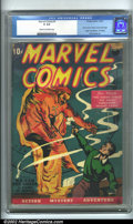 "Golden Age (1938-1955):Adventure, Marvel Comics #1 (Timely, 1939). A true ""super-key"" issue if ever there was one, this was the springboard for one of the mos..."
