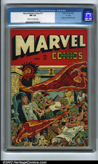 "Marvel Mystery Comics #71 ""D"" pedigree (Timely, 1946). Being the ultimate producer of propaganda comics during..."