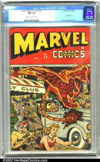 Marvel Mystery Comics #74 (Timely, 1946). This Golden Age gem features Timely greats the Human Torch, Sub-Mariner, the A...