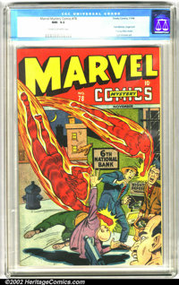 Marvel Mystery Comics #78 (Timely, 1946). Another beautiful Timely, starring heavy-hitters the Human Torch and Sub-Marin...