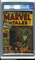 "Golden Age (1938-1955):Horror, Marvel Tales #105 Palo Alto pedigree (Marvel, 1952). One of RussHeath's best horror covers features ""The Spider That Waits""..."