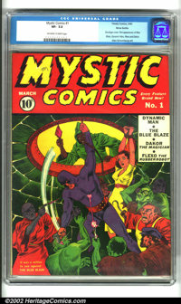 Mystic Comics #1 Nova Scotia pedigree (Atlas, 1940). This is one incredible comic book. Tremendously well preserved, the...