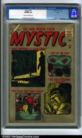Silver Age (1956-1969):Horror, Mystic #55 Aurora pedigree (Timely, 1957). A stunning horror issuewith spectacular cover gloss and good page quality featur...