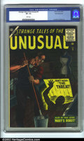 """Silver Age (1956-1969):Horror, Strange Tales Of The Unusual #5 White Mountain pedigree (Atlas, 1956). This book is from the esteemed """"White Mountain"""" coll..."""