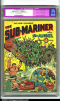 Golden Age (1938-1955):Superhero, Sub-Mariner Comics #1 (Timely, 1941). A classic key issue, Subby's own title was long in the coming. Alex Schomburg was hand...
