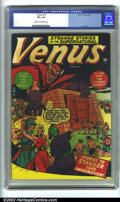 Golden Age (1938-1955):Horror, Venus #12 (Atlas, 1951). A great comic, this book crosses multiplecollecting genres. Pre-code horror, super-hero, good gir...