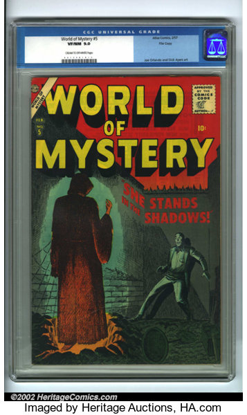World of Mystery #5 (Allied Artists, 1957)  This issue features Joe