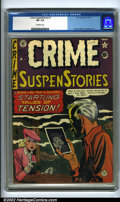 Golden Age (1938-1955):Crime, Crime SuspenStories #1 (EC, 1950). The first issue of this popular EC crime title features interior art by Graham Ingels, H...