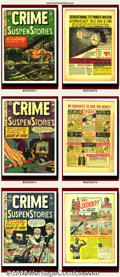 Golden Age (1938-1955):Science Fiction, Crime SuspenStories Group Lot (EC, 1952-1954). This CrimeSuspenStories lot is terrifying, consisting of issues #5, #7, ...(Total: 10 Item)