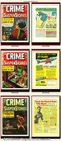 Golden Age (1938-1955):Science Fiction, Crime SuspenStories Group Lot (EC, 1952-1954). Crime SuspenStories issues #6, #9, #21, #25, and #26. Great horror run wi... (Total: 5 Item)