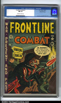 Golden Age (1938-1955):War, Frontline Combat #1 Gaines File pedigree 5/9 (EC, 1951). The spectacular first issue of this inspired title, Frontline Com...