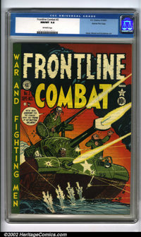 Frontline Combat #2 Gaines File pedigree 6/9 (EC, 1951). An incredible comic book showcasing a Harvey Kurtzman Korean Wa...