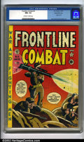 Golden Age (1938-1955):War, Frontline Combat #4 Gaines File pedigree 7/10 (EC, 1952). The cover on this book is a sheer masterpiece, spotlighting Harvey...