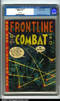 Golden Age (1938-1955):War, Frontline Combat #5 Gaines File pedigree 7/10 (EC, 1952). Artistically, this issue boasts an innovative Harvey Kurtzman cov...