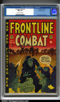 Golden Age (1938-1955):War, Frontline Combat #6 Gaines File pedigree 6/9 (EC, 1952). Another striking Harvey Kurtzman cover with interior art by Jack Da...