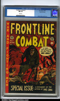 "Golden Age (1938-1955):War, Frontline Combat #7 Gaines File pedigree 6/10 (EC, 1952). Theclassic ""Iwo Jima"" issue features a terrific Kurtzman cover an..."