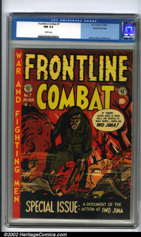 "Frontline Combat #7 Gaines File pedigree 6/10 (EC, 1952). The classic ""Iwo Jima"" issue features a terrific Kur..."