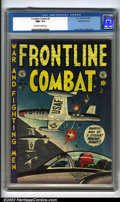 Golden Age (1938-1955):War, Frontline Combat #8 Gaines File pedigree 6/9 (EC, 1952). This Harvey Kurtzman cover has to be one of the earliest air battle...