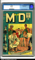 Golden Age (1938-1955):Miscellaneous, M.D. #4 Gaines File pedigree 9/12 (EC, 1955). The Johnny Craig cover for this issue shows physicians attending to a drowning...