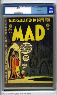 Mad #1 (EC, 1952). The first satire comic ever published! From the fevered brains of Harvey Kurtzman and Company comes t...