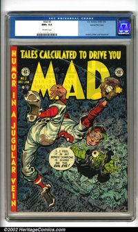 Mad #2 Gaines File pedigree 5/12 (EC, 1952). Outstanding issue of America's favorite humor comic with artwork by EC stal...