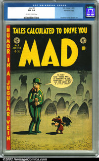 Mad #3 Gaines File pedigree 5/12 (EC, 1953). One of the most trend-setting comics ever published, Mad has become a cultu...