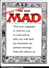 Mad #24 Gaines File pedigree (EC, 1955). The first magazine-format Mad issue, and a simply unimprovable copy. Art by Wal...