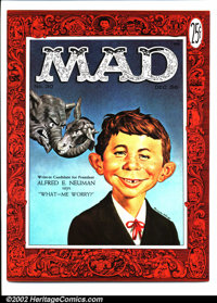 Mad #30 Gaines File pedigree (EC, 1956). First Alfred E. Neuman cover, art by Norman Mingo. Interior art by Wood, Davis...