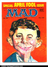 Mad #39 Gaines File pedigree (EC, 1958). April Fool issue. Art by Wood, Mingo, Wolverton and Freas. A photo-certificate...