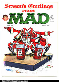 Mad #68 Gaines File pedigree (EC, 1962). Don Martin Christmas cover. A photo-certificate attesting to the Gaines File pe...