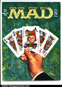 Mad #69 Gaines File pedigree (EC, 1962). Kelly Freas cover. A photo-certificate attesting to the Gaines File pedigree wi...
