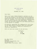 Autographs:U.S. Presidents, [Buzz Aldrin] Typed Letter Signed by Ronald Reagan as President. ...